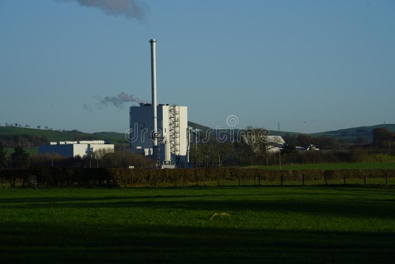 Stevens Croft Power Station royalty-vrije stock afbeeldingen