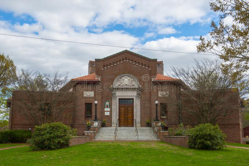 Stevens Memorial Library, North Andover, Massachusetts, USA. Stevens Memorial Library on 345 Main Street in town center of North Andover, Massachusetts MA, USA royalty free stock photography