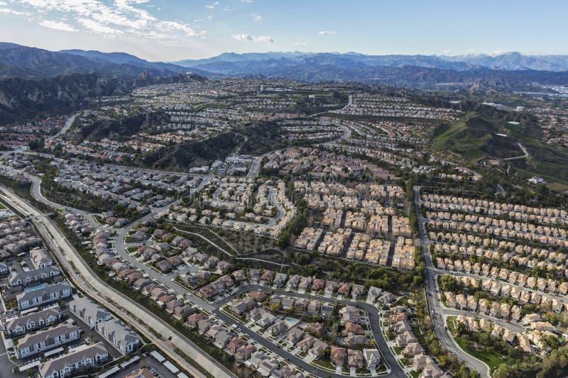 Stevenson Ranch Aerial em Califórnia do sul foto de stock