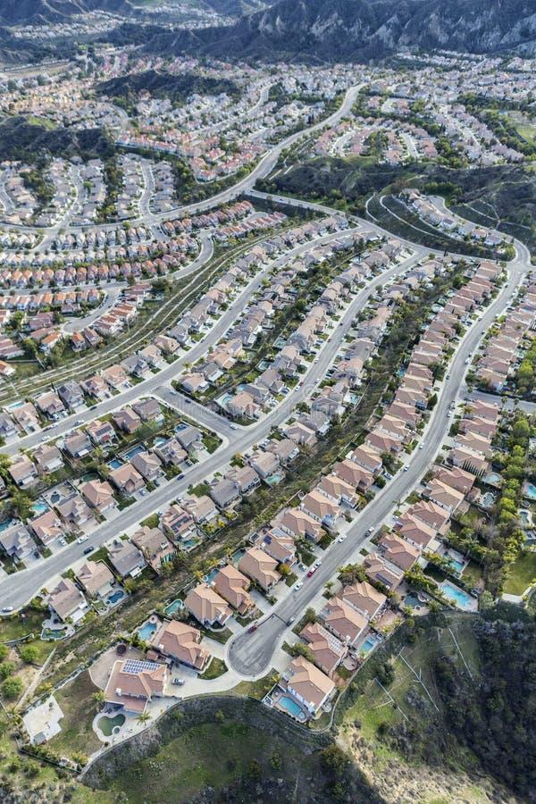 Stevenson Ranch California Aerial View imagens de stock royalty free