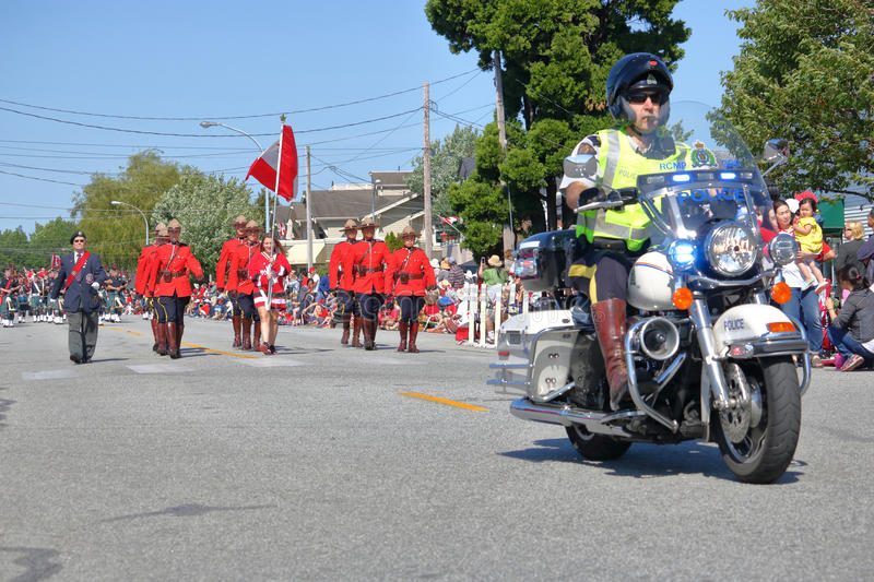 Steveston Salmon Day Festival and the RCMP royalty free stock images