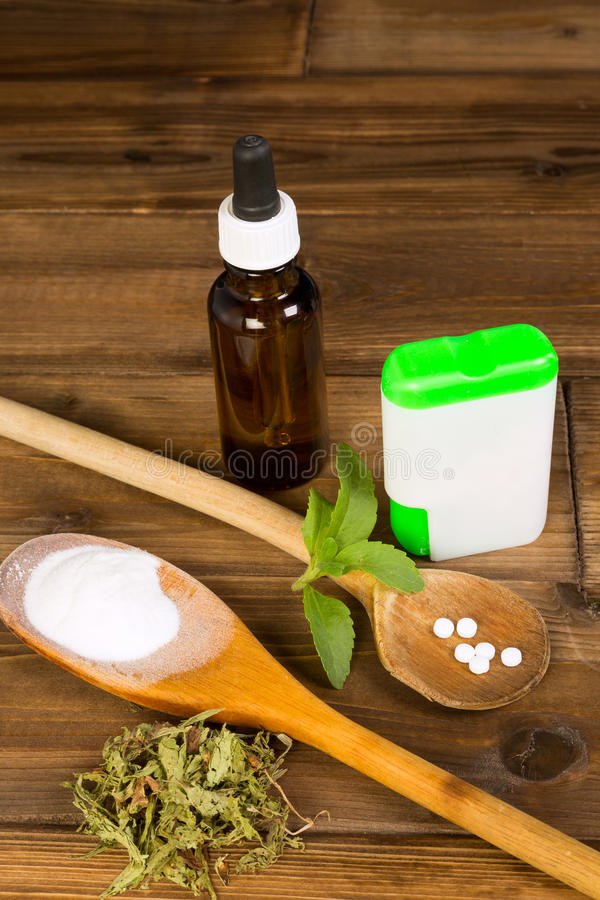 stevia del dolcificante del Zero-carburatore immagine stock libera da diritti