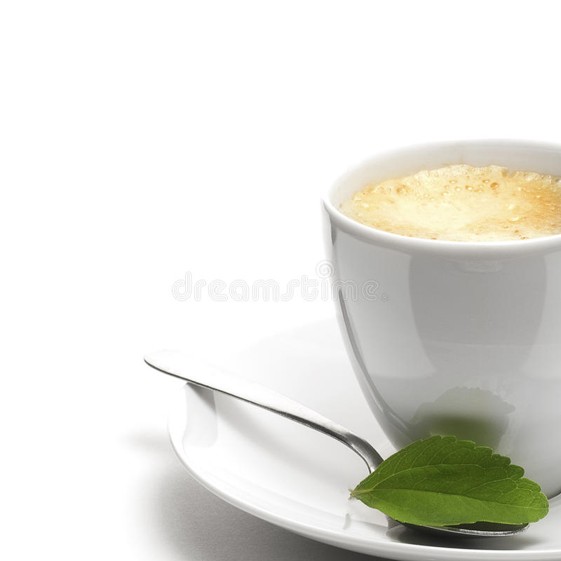 Stevia Plant And Coffee Cup Royalty Free Stock Photo