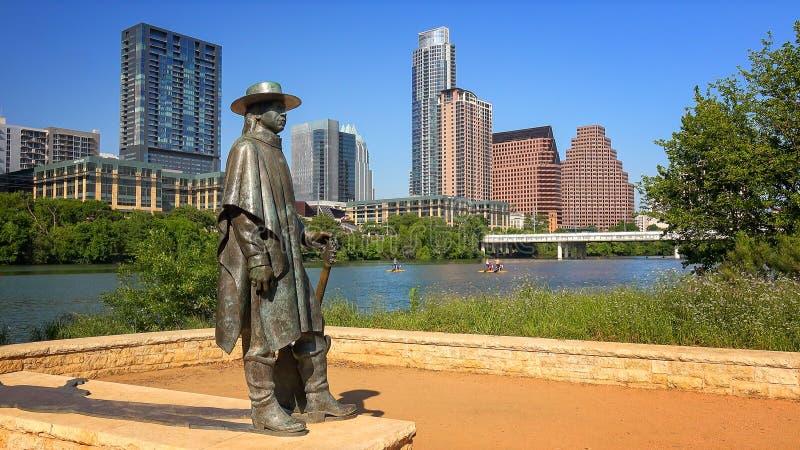 Stevie Ray Vaughan Sculpture devant Austin du centre, le Texas photos stock
