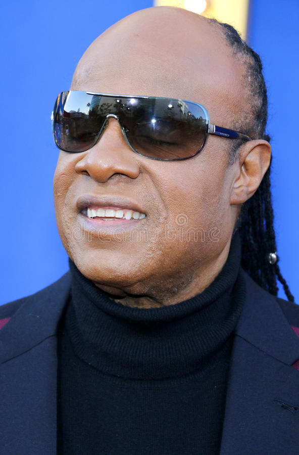 Stevie Wonder. At the Los Angeles premiere of `Sing` held at the Microsoft Theater in Los Angeles, USA on December 3, 2016 royalty free stock image