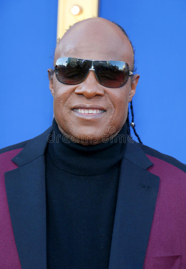Stevie Wonder. At the Los Angeles premiere of `Sing` held at the Microsoft Theater in Los Angeles, USA on December 3, 2016 royalty free stock photo