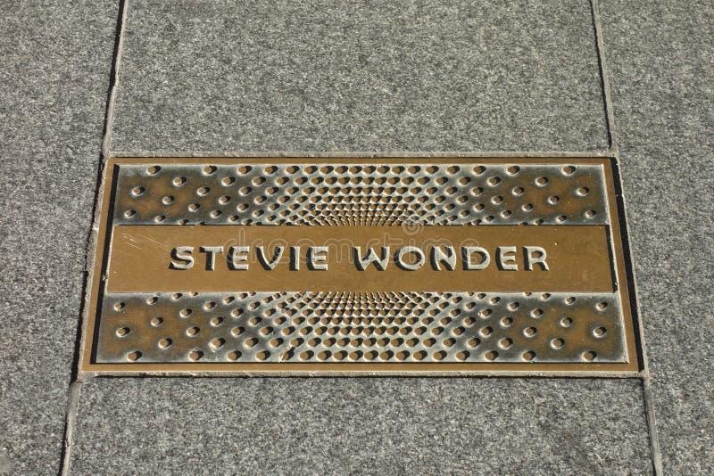 Stevie Wonder Plaque royaltyfria bilder