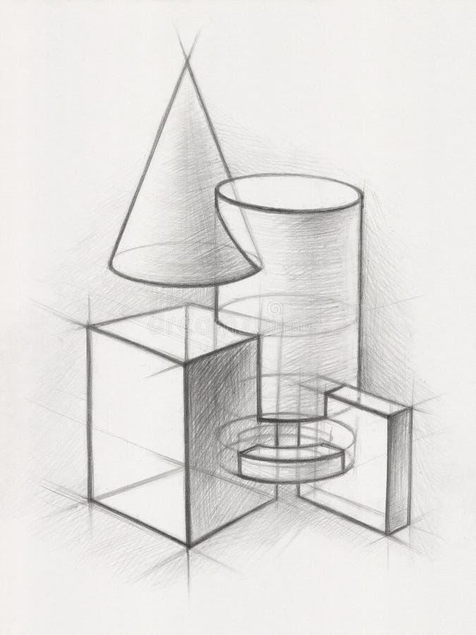 Stevige Geometrische Vormen stock afbeelding