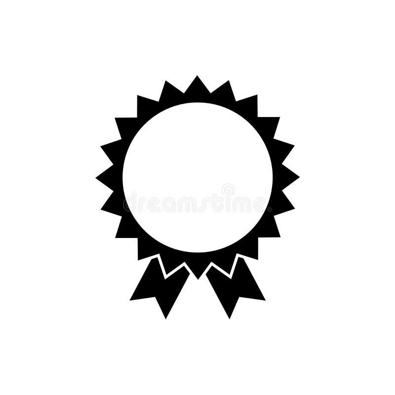 Stevige het pictogramzwarte van de stermedaille royalty-vrije illustratie