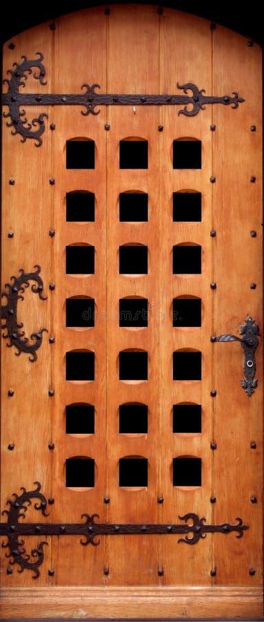 Stevige houten deur stock fotografie