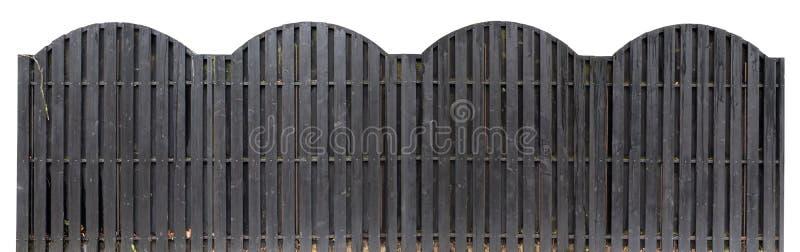 Stevige houten omheining van zwarte kleur stock afbeeldingen