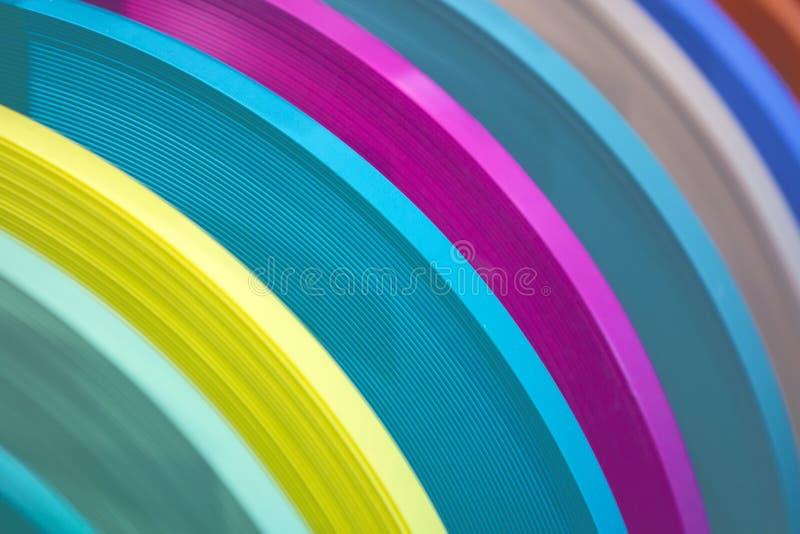 Stevige kleur of houten de rand van korrelpvc het verbinden band ABS rand het verbinden Reeks gekleurde thermoplastische randen M royalty-vrije stock fotografie