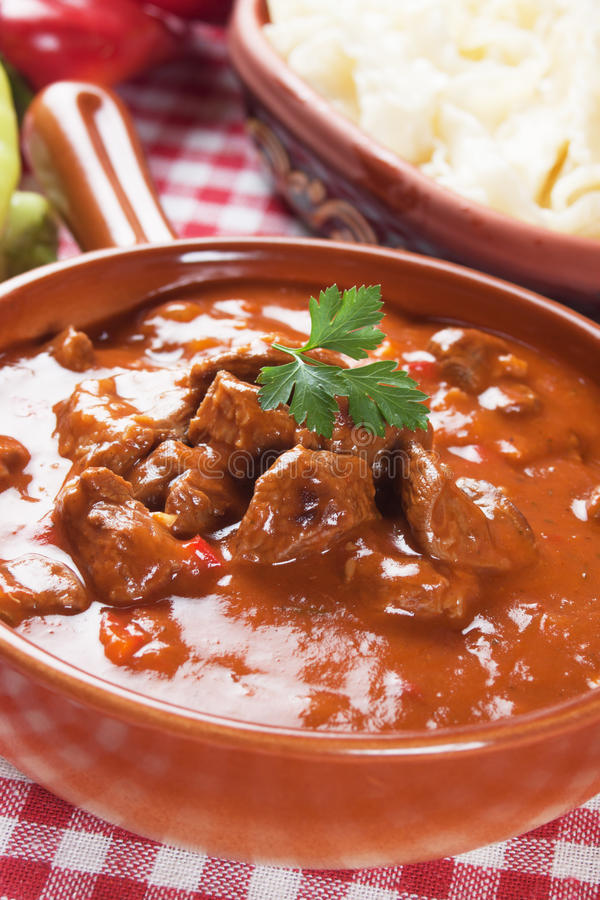 Stew ή goulash Beew στοκ φωτογραφία με δικαίωμα ελεύθερης χρήσης
