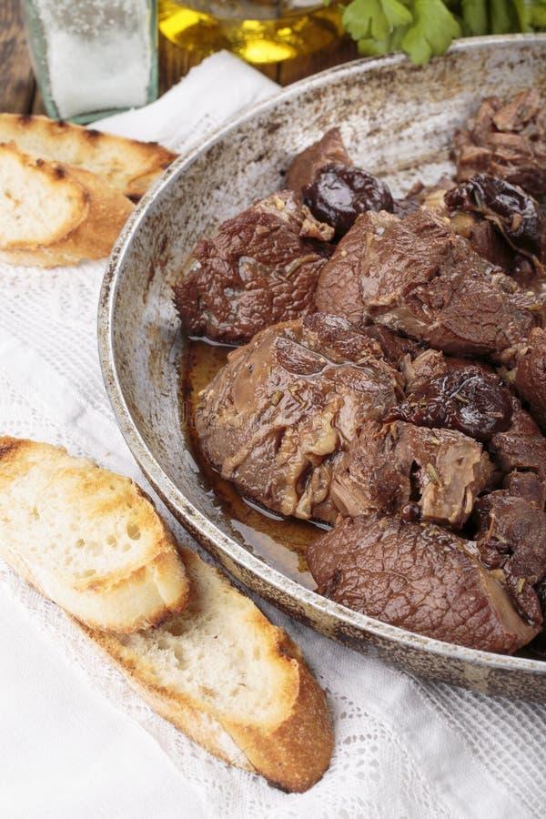 Stew βόειου κρέατος Peposo †«Peppered στοκ φωτογραφία