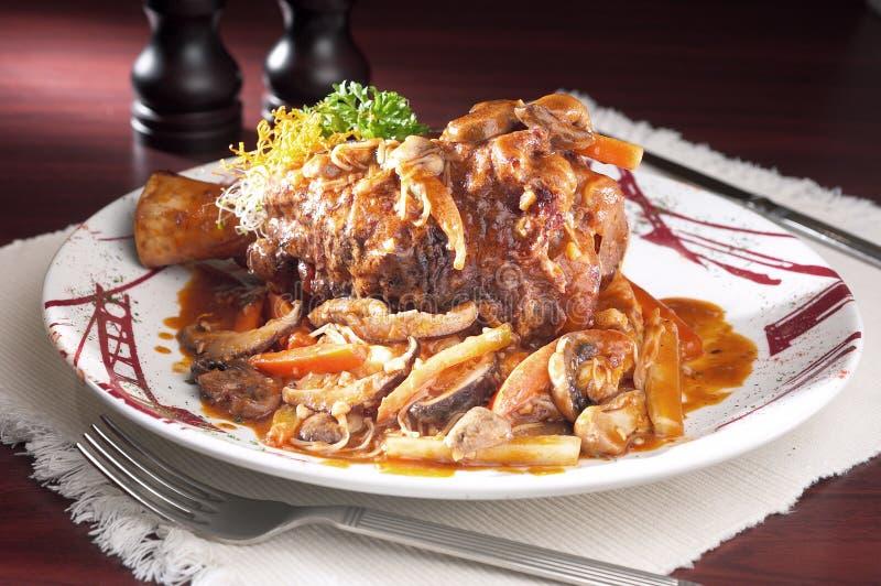 Stew μανιταριών χοιρινού κρέατος στοκ φωτογραφίες