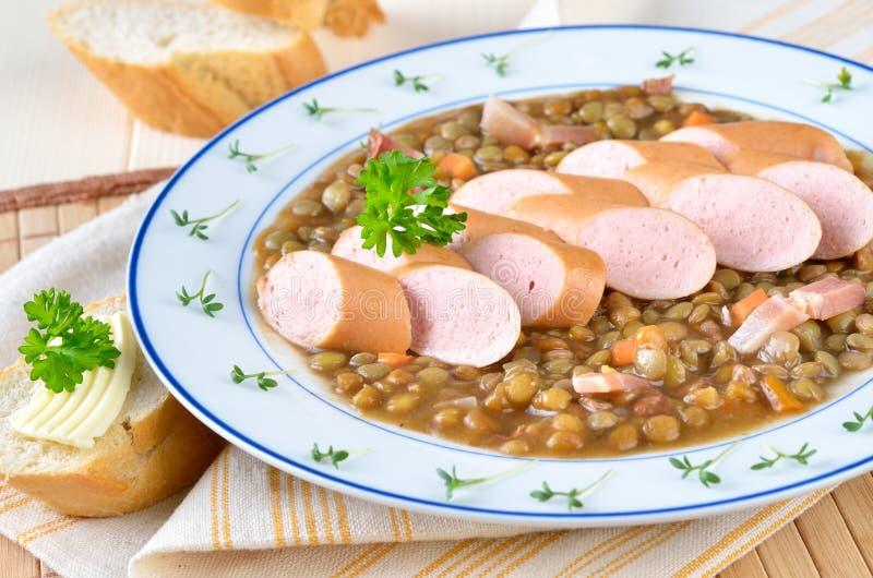 stew φακών στοκ εικόνες