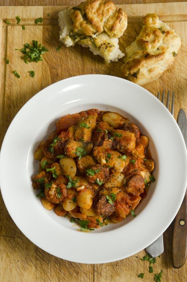 Stew χοιρινού κρέατος και chorizo στοκ φωτογραφία με δικαίωμα ελεύθερης χρήσης