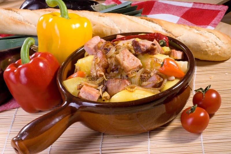 stew χοιρινού κρέατος στοκ φωτογραφία