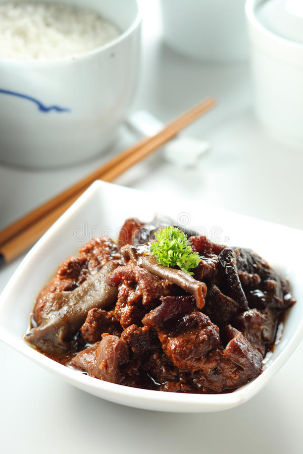 Stew χοιρινό κρέας στοκ εικόνα με δικαίωμα ελεύθερης χρήσης