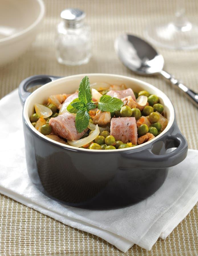 Stew зеленого гороха стоковые изображения