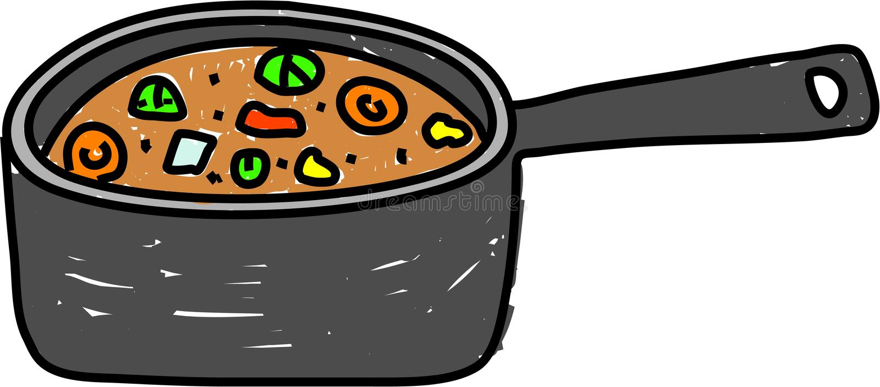 stew лотка иллюстрация штока