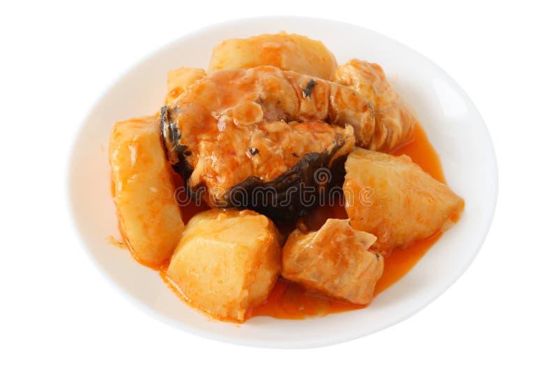 Download Stew плиты рыб стоковое изображение. изображение насчитывающей выкружка - 18391799