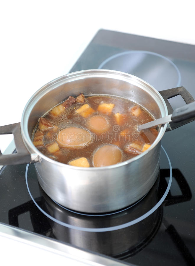 stew свинины яичка стоковое изображение
