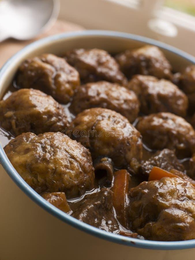 stew för nötköttklimpört royaltyfri foto