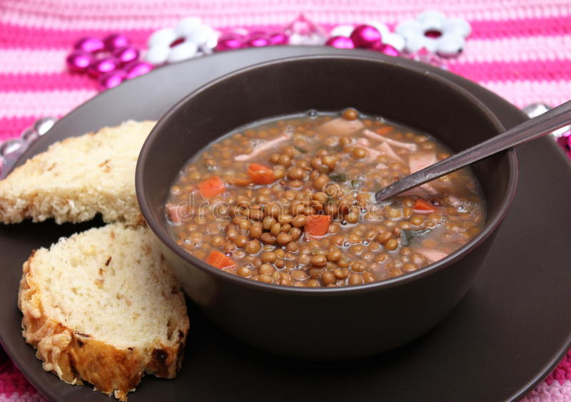 Stew of lentils royalty free stock photos