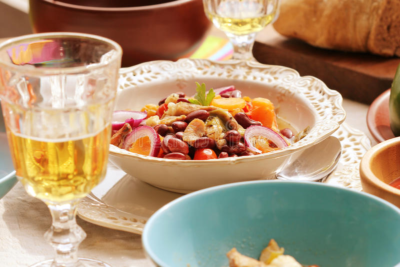 Stew ready on the dining table royalty free stock images