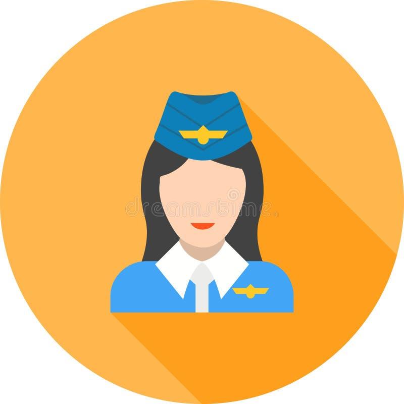 Steward (hôtesse de l'air) illustration de vecteur