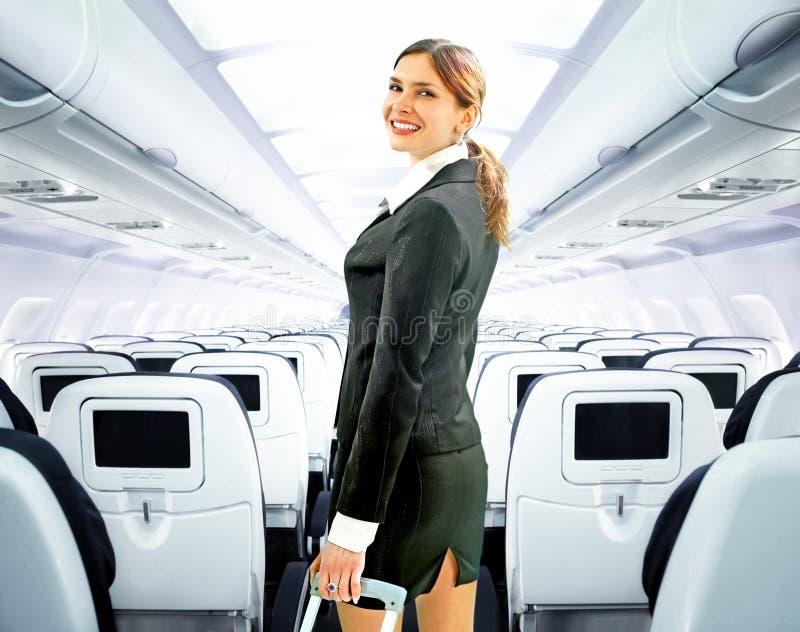 Steward (hôtesse de l'air) images stock