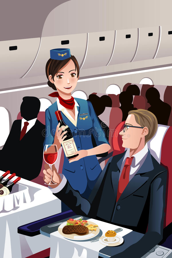 Steward (hôtesse de l'air) illustration stock