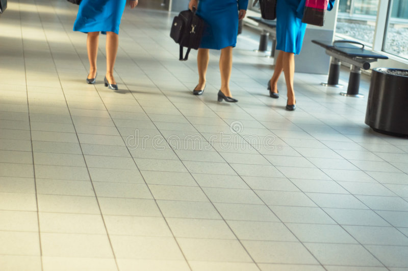 Stewardess foto de stock royalty free