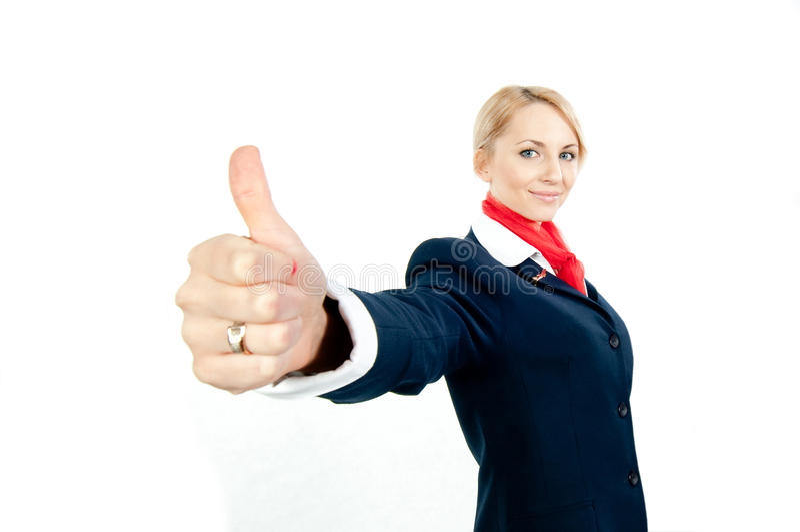 Stewardess royalty-vrije stock fotografie