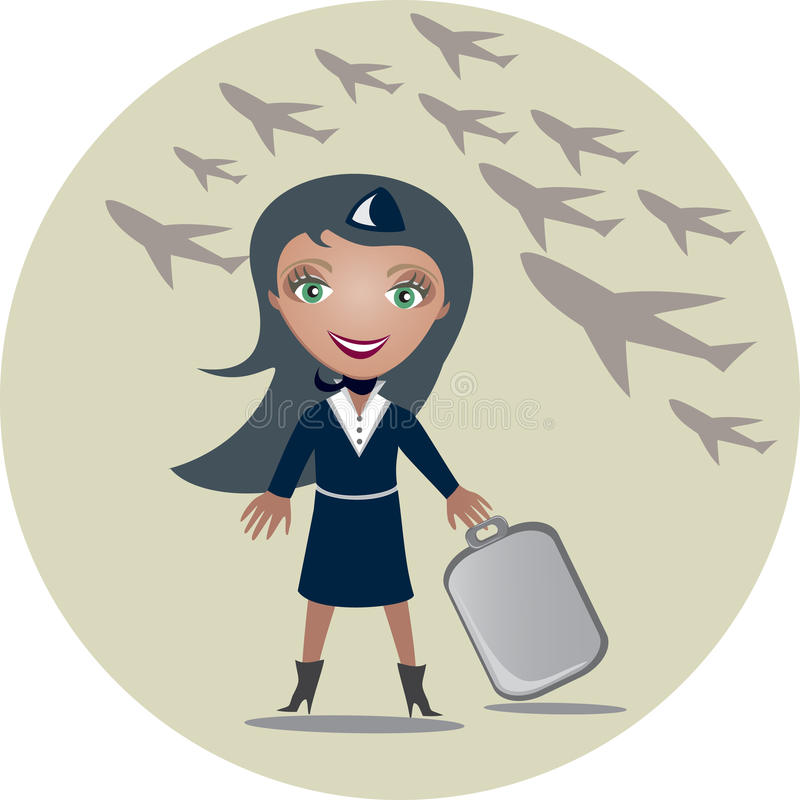 Download Stewardess stock vector. Image of attendant, airplane - 16285842