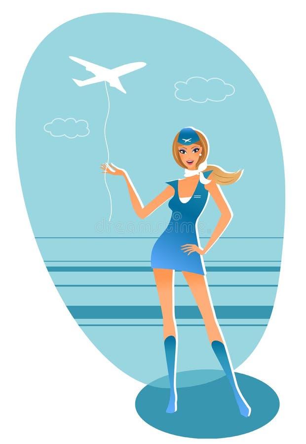Stewardess royalty free stock images
