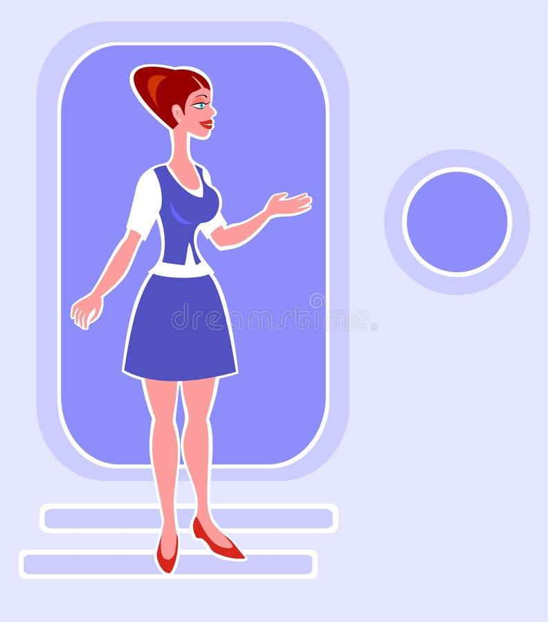 Stewardess ilustração royalty free