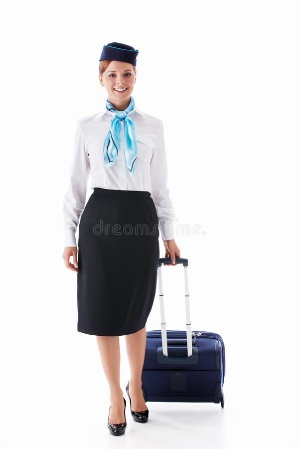 Stewardess royalty-vrije stock afbeelding