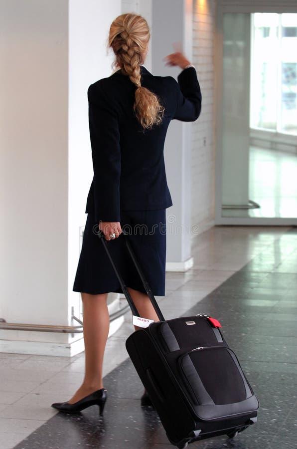 Stewardess stock fotografie