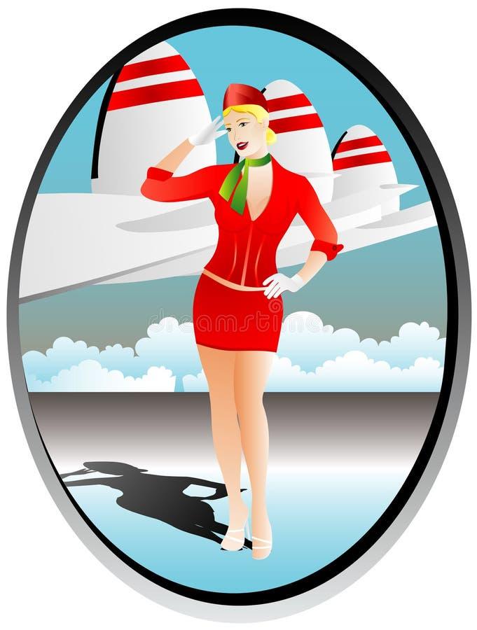 Stewardess stock abbildung
