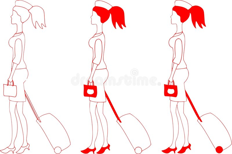 Download Stewardess illustrazione vettoriale. Illustrazione di hostess - 7316471