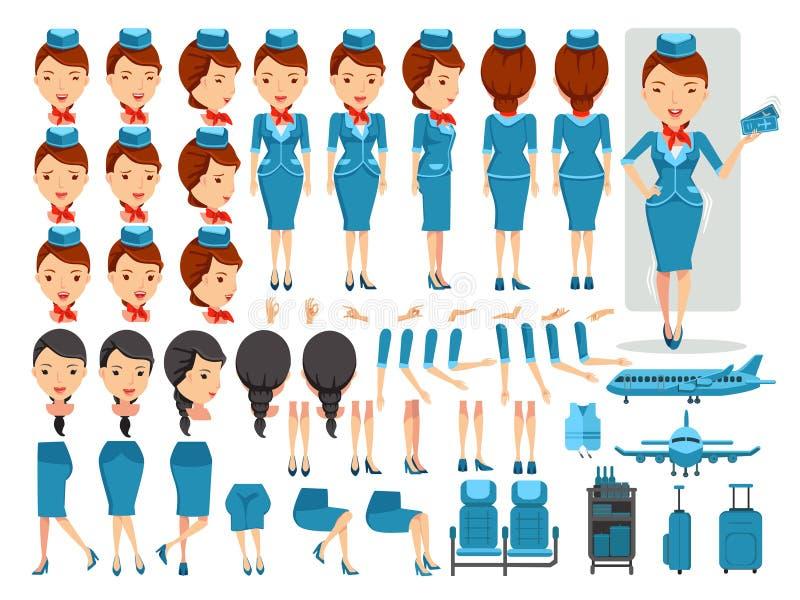 Stewardess vektor abbildung