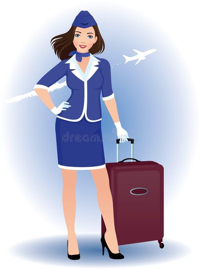 Stewardess stock illustration