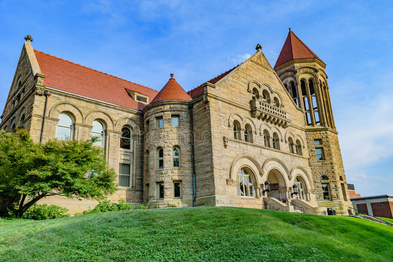 Stewart Hall em Virginia University ocidental fotografia de stock