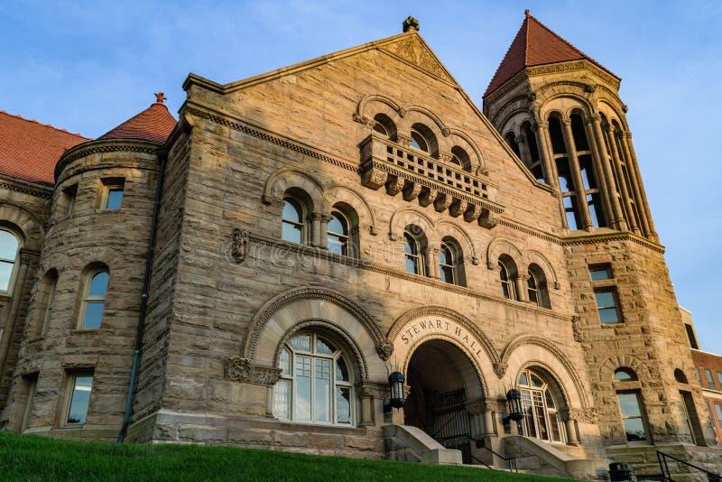 Stewart Hall em Virginia University ocidental foto de stock royalty free