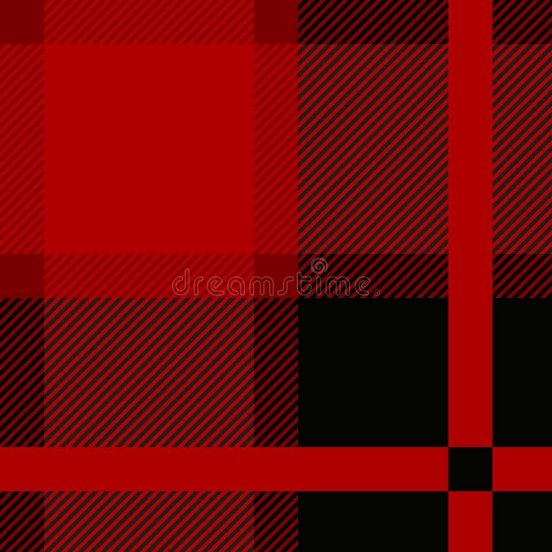 Stewart Tartan Seamless Cloth Pattern real vermelho ilustração royalty free