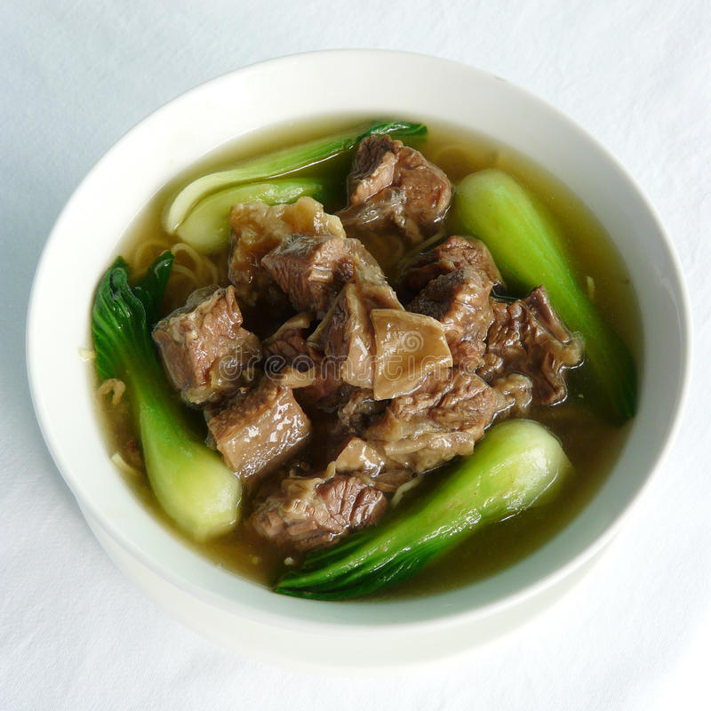 Stewed beef with noodles hong kong style stock photos