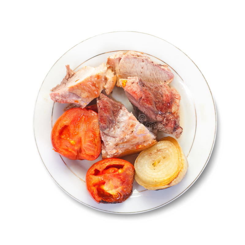Download Stewed meat with tomatoes stock image. Image of slice - 13212973