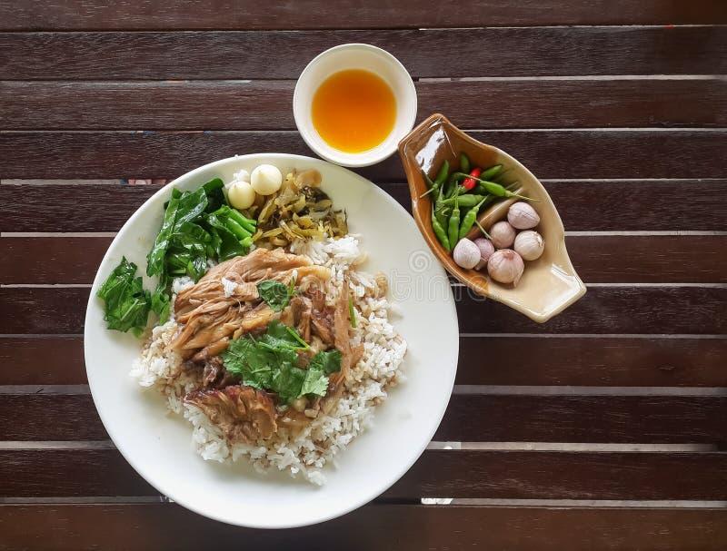 Stewed pork leg on rice version2 royalty free stock image